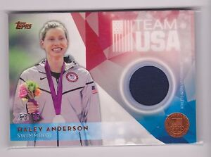 RARE 2016 TOPPS OLYMPIC HALEY ANDERSON BRONZE RELIC CARD 53/75 ~ USA SWIMMING