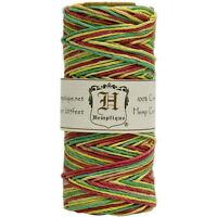 Rasta Variegated 20lb Hemp Cord / Twine For Packaging, Jewelry, Etc. 205 Feet