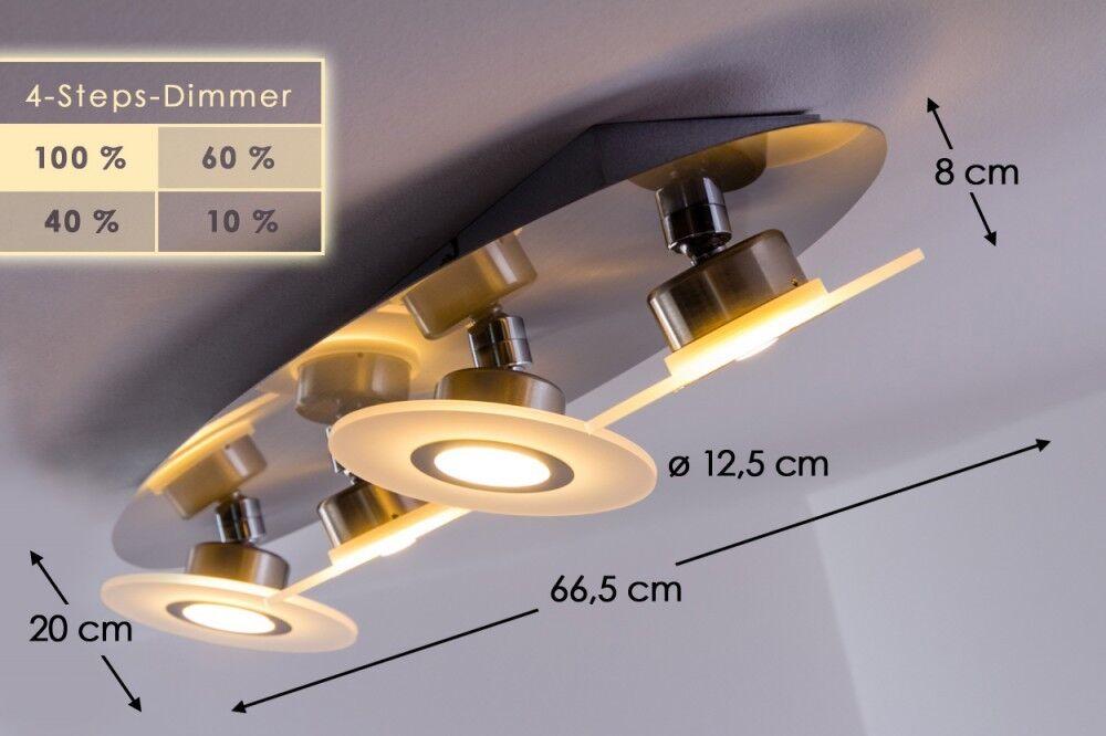 FARETTO Soffitto LED Lampada da soffitto Plafoniera Lampada Luci 4 stadi dimmer
