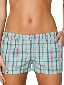 Uncover-by-Schiesser-Mujer-Mix-amp-Relax-Tejido-Tela-Shorts-S-M-L-XL-turquesa