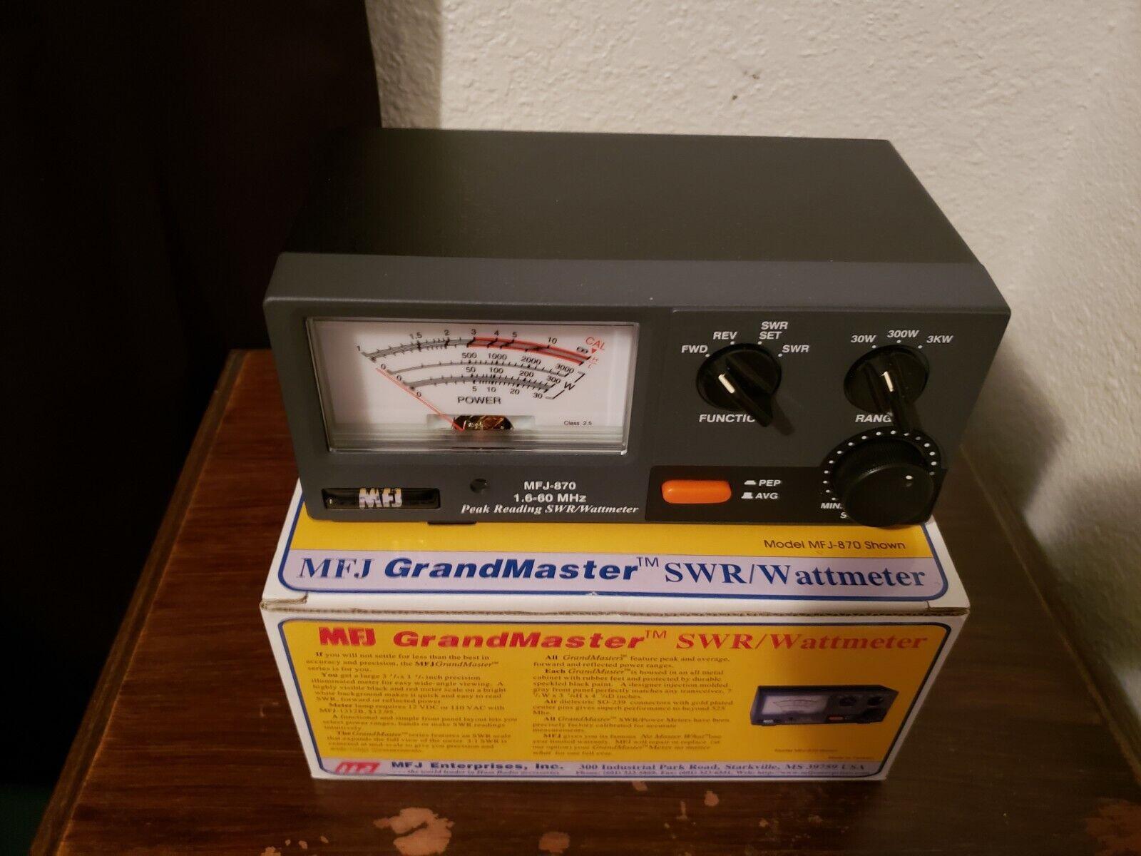 MFJ-870 Grandmaster SWR Watt meter 1.8-60MHz, 30/300/3000W.. Available Now for 95.50