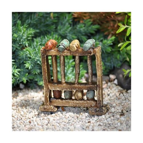 Miniature Dollhouse FAIRY GARDEN Accessories Croquet Set with Metal Stakes