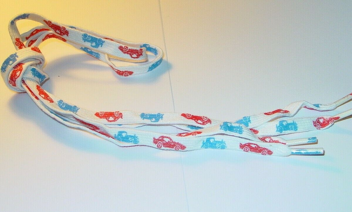 CARS AUTOS HOT WHEELS 1980's VINTAGE SHOE LACES 40 INCH NEW OLD STOCK 1 PAIR