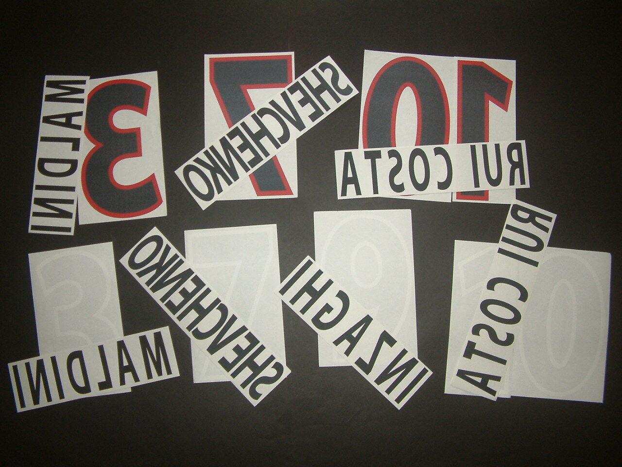 KIT Name + Nummer offizielle AC MILAN weg 4th 4th 4th 2000-2002 offiziell nameset dbc12f