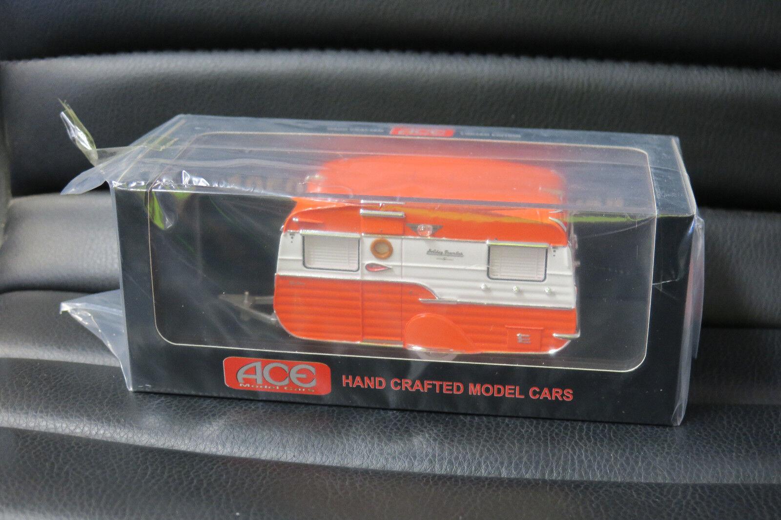 1 43 ACE MODEL CARS 1950's STYLIZED CARAVAN  TANGERINE AWESOME LOOKING MODEL LTD