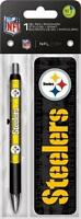 Nfl Pittsburgh Steelers Logo Pen & Bookmark Set, New, Free Shipping