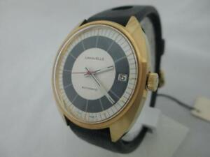 NOS-NEW-SWISS-VINTAGE-BIG-CARAVELLE-BY-BULOVA-AUTOMATIC-MENS-WATCH-1960-039-S-DATE