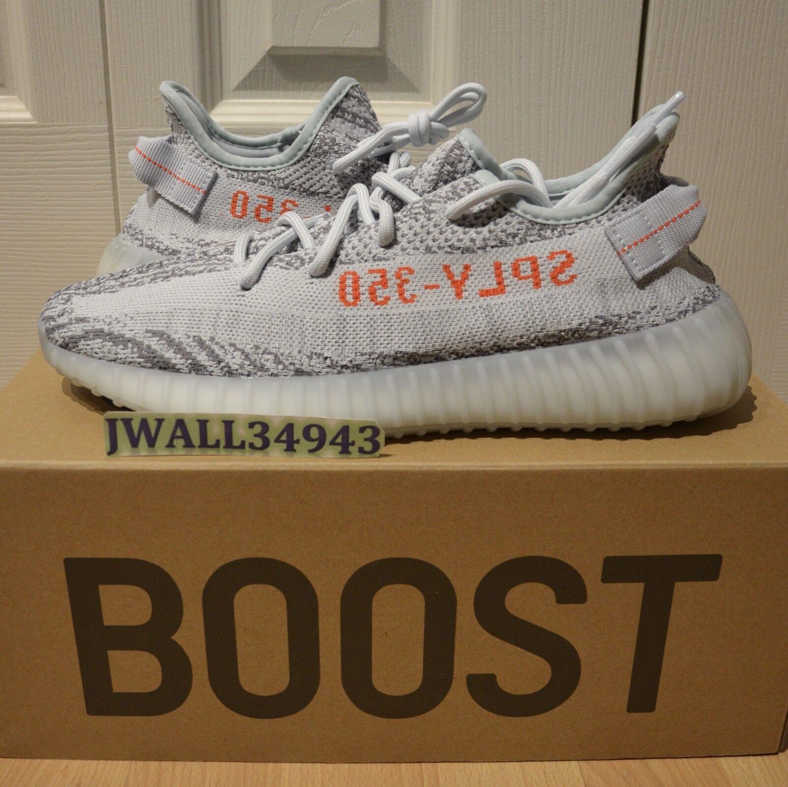 Adidas YEEZY Boost 350 V2 Blue Tint Sply Kanye B37571 DS New w/RECEIPT Size 9.5