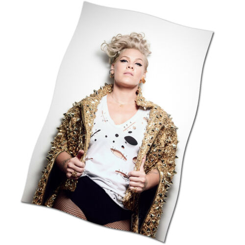 Pink Flag Banner NEW Beautiful Trauma Fabric Textile Poster P!nk