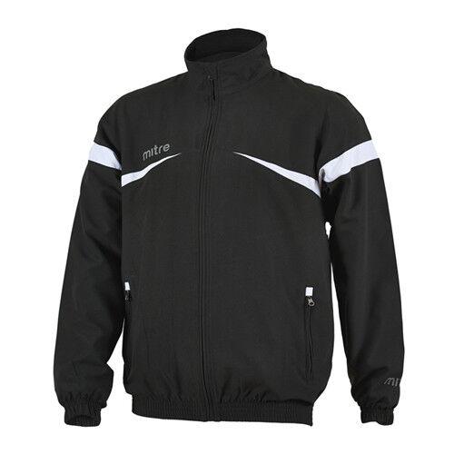 Mitre Polarize Zip Up Black White Mens Sports Track Jacket T50103 BJ7 EE24