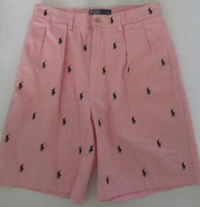 3561b9d38 polo ralph lauren Tyler mens shorts pink All Over Pony Print Size 33 ...