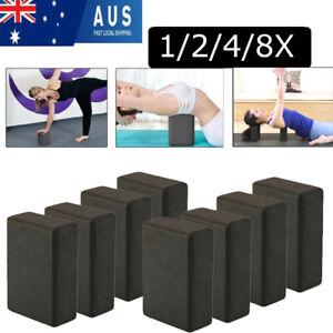 Pilates Yoga Block Foaming Foam Brick Exercise Fitness Gym Fitness Sport Black