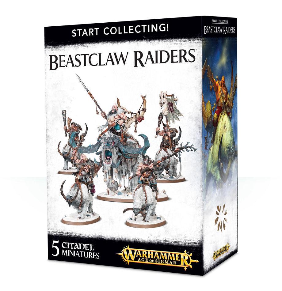 Empezar a a a recolectar beastclaw Raiders Warhammer reinos ogro edad de Sigmar Nuevo  selección larga