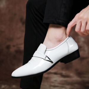 Mens-Oxfords-Loafers-Pointed-Toe-Leather-Shoes-Formal-Casual-Driving-Party-Dress