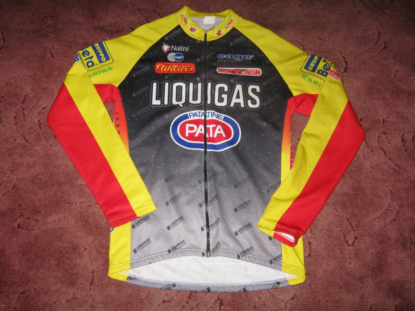 LIQUIGAS PATATINE  PATA WILIER NALINI ITALIAN L S CYCLING JERSEY [42 ]  outlet