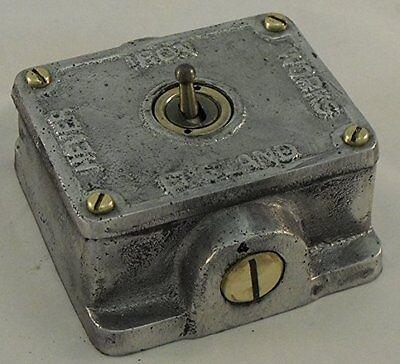 G/&h norme CSB1B plaque brossé Laiton 1 Gang 1 ou 2 Façon Rocker Interrupteur De Lumière