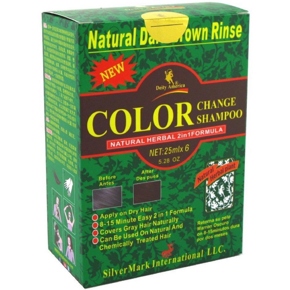Deity America Natural Herbal 2in1 Formula Color Change Shampoo Dark