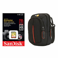 Pro Cl1s 16g Hd Sd Card Camera Bag Kit For Canon A2500 Elph 115 330 Nikon Aw110