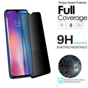 For Xiaomi Mi 8 Mi 9 Redmi Note Tempered Glass Anti-Spy Privacy Full-cover Film
