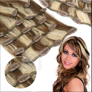 THICK-100-Best-Hair-Weft-Clip-In-Remy-Human-Hair-Extensions-Full-Head