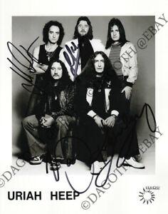 Uriah Heep 8x10 Foto Lee Kerslake Ken Hensley Box 1 Easy Livin Autograph Signed Ebay