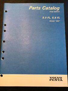 Volvo Penta Parts Catalog 5.0 FL & 5.8FL, Model MD, 1994, Part# 7748030-9, Final