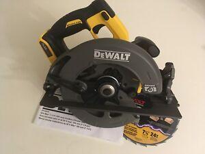 New dewalt dcs575b 7 14 circular saw flexvolt 60v max brushless image is loading new dewalt dcs575b 7 1 4 034 circular greentooth Choice Image
