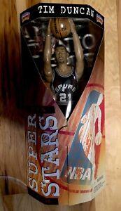 "Tim Duncan Super Stars Action Figure 13"" New In NM/Mint Box. San Antonio Spurs!"
