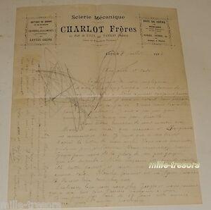 Lettre-de-Correspondance-de-1914-CHARLOT-Freres-Scierie-Mecanique