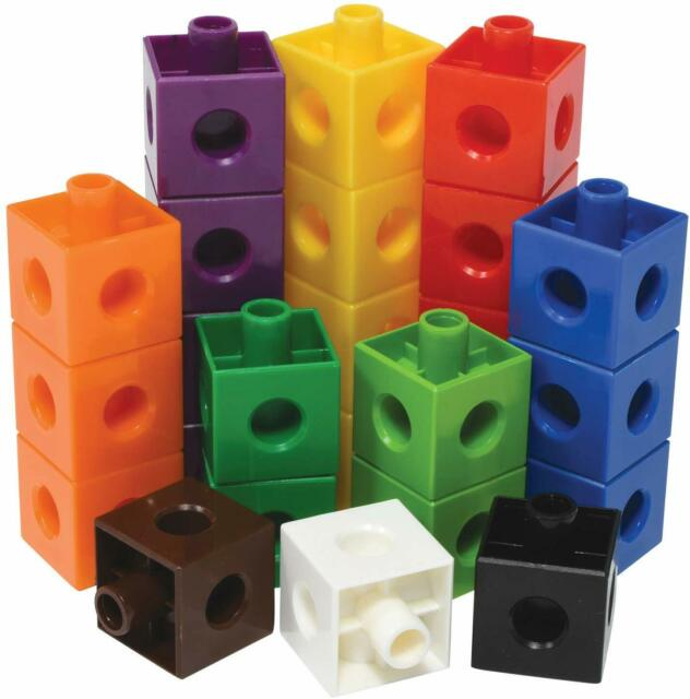 Learning Resources Math Link Cube Home Early Learning Set of 100 Small Cubes 1CM