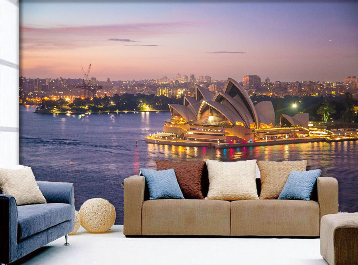 3D Sydney Opera House 212 Wall Paper Wall Print Decal Wall Deco Indoor Wall