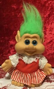 1991-Vintage-ITB-Candy-Striper-Green-Haired-Troll-Doll