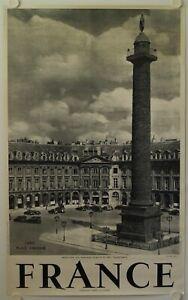 Logique Affiche France Paris Place Vendome Ann '50 Currial Archereau, Paris Brillant