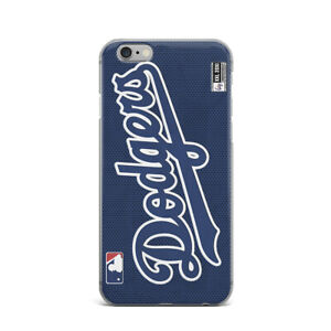 NBL-iPhone-X-XR-Rubber-Case-Dodgers-Baseball-iPhone-7-8-Plus-Cover-iPhone-XS-Max
