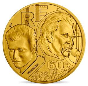 FRANCE-0-25-1-4-EURO-2020-JOHNNY-HALLYDAY-60-ANS-DE-SOUVENIRS-RARE