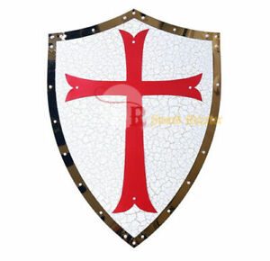 24-034-Medieval-Knight-Crusader-Shield-Armor-Kingdom-of-Heaven-with-Red-Cross-New