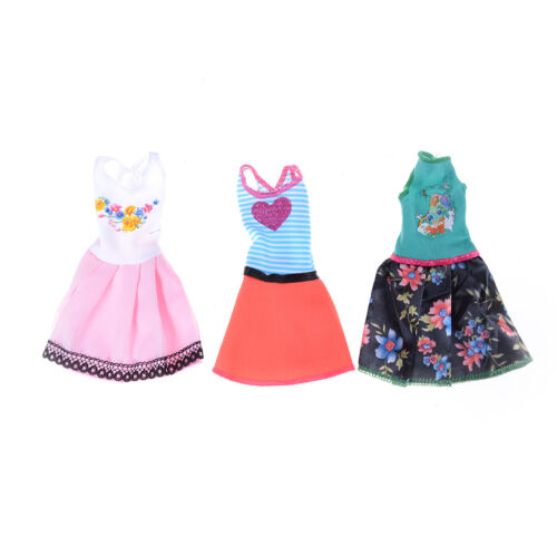 6pcs//Lot Beautiful Handmade Party Clothes Fashion Dress for  Doll Decor HK