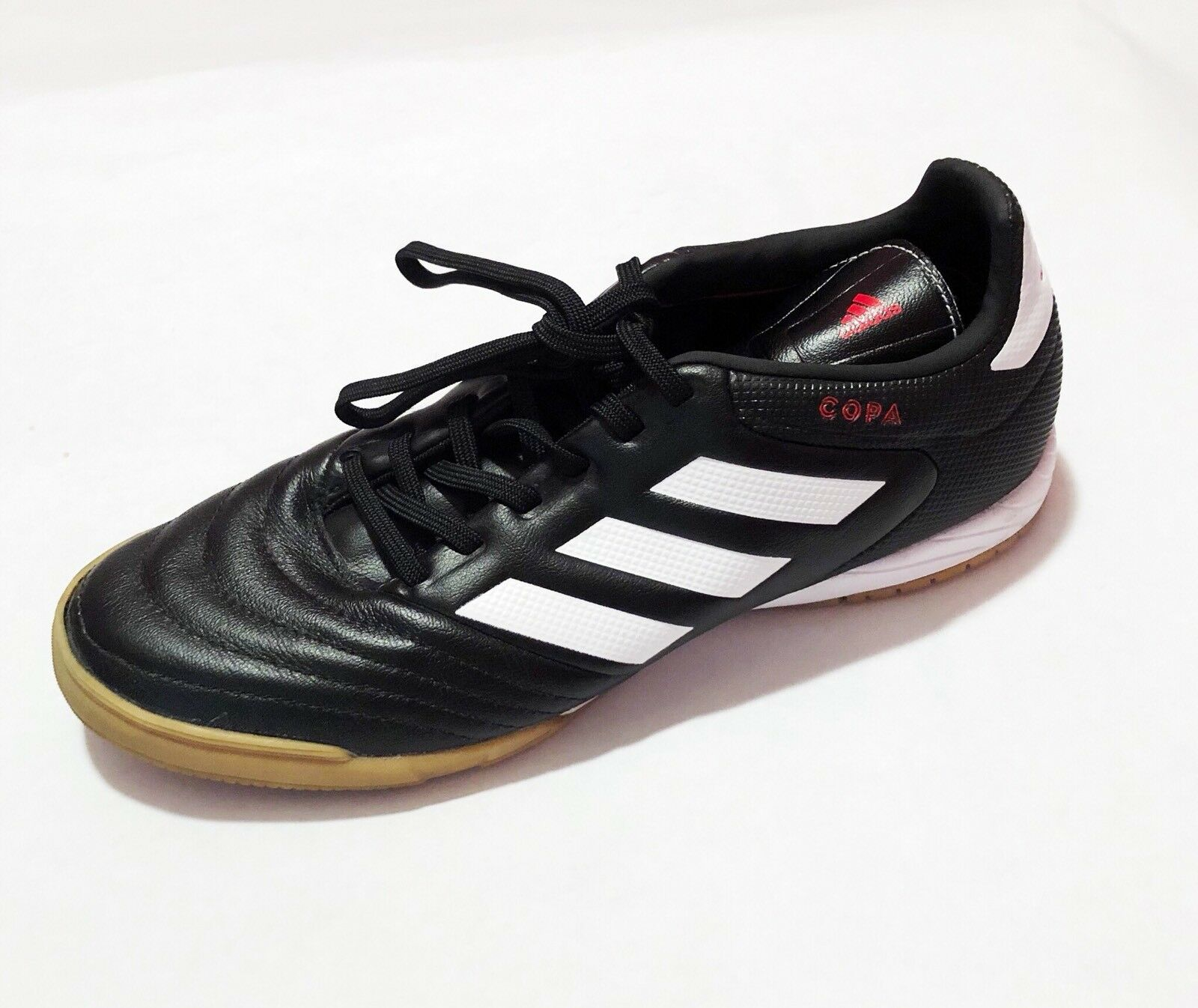 Adidas Copa Mens Size Black Indoor Soccer Shoes White Stripes Size Mens US 7 b02897