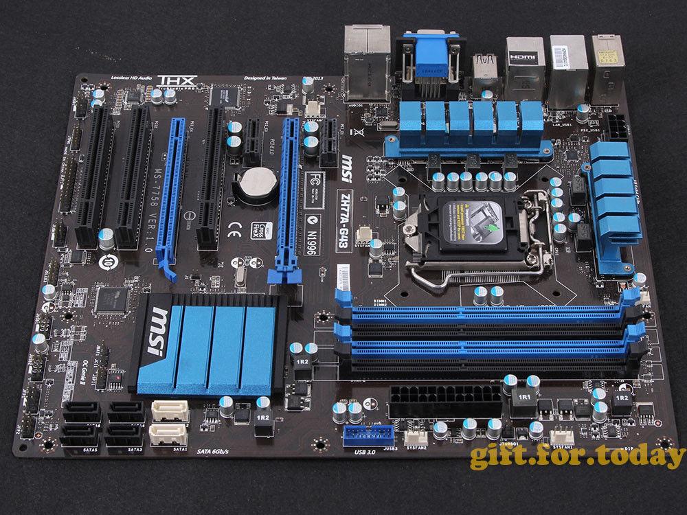 MSI ZH77A-G43, LGA 1155/Socket H2, Intel Motherboard