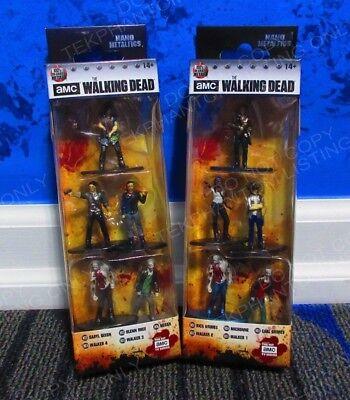 2x AMC The Walking Dead Jada Nano metalfigs 5 Pack Daryl Rick Glen Michonne Carl