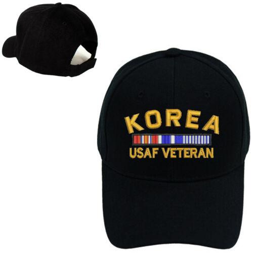 MILITARY BASEBALL CAP HAT KOREA USAF AIR FORCE VETERAN RIBBON