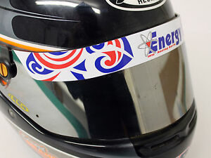 Details Zu Energy Helmet Visor Stickerstrip Karting