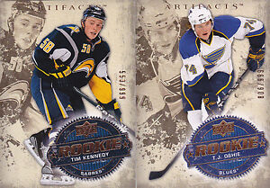 08-09-Artifacts-Tim-Kennedy-999-Rookie-RC-Sabres-2008