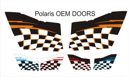 Polaris RZR  oem doors 570 800 900 XP GRAPHICS DECALS WRAP DOORS UTV SIDE X