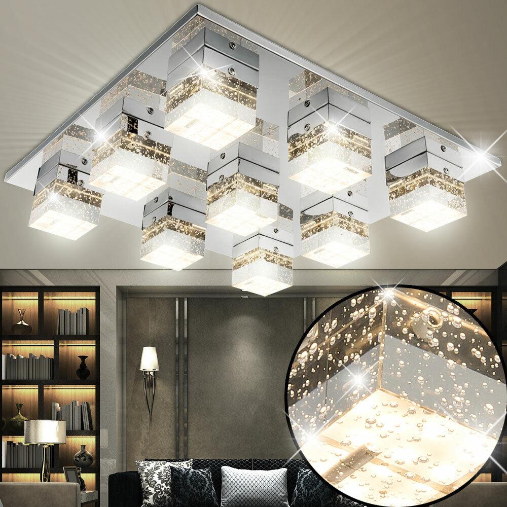 LED Würfel Spot Decken Lampe Luft Blasen Design Beleuchtung Gäste Zimmer Leuchte