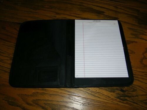 Office Supplies Leeds Leather Portfolio Full Size With Pad TXU ...