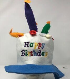 581882c435d30 Image is loading HAPPY-BIRTHDAY-White-Party-Hat