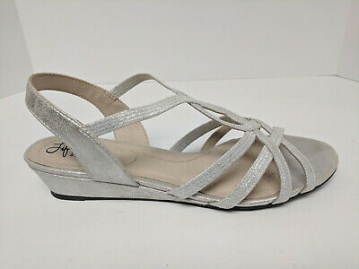 LifeStride Yaya Wedge Sandals, Silver