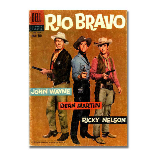 Rio Bravo John wayne Dean Martin Western Movie Art Silk Poster Prints 13x18 inch