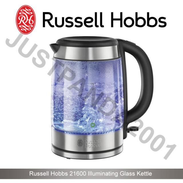BD Russell Hobbs 21600-10 Illuminating Glass Cordless Jug Kettle 1.7 Litres